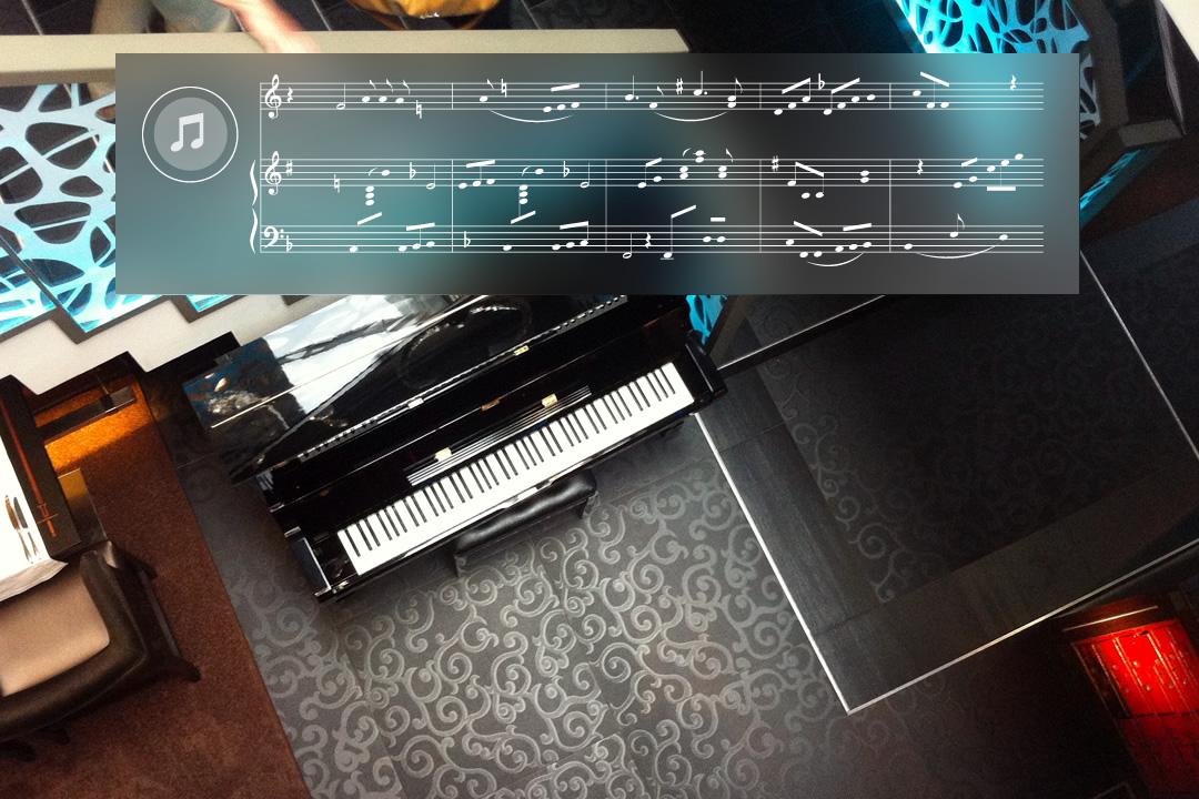 Virtuele pianotoetsen en automatisch bladmuziek met Google Glass