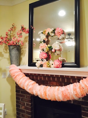 DIY Flower Letter tutorial, Bridal shower decorations, Pink peach and white flower letter tutorial
