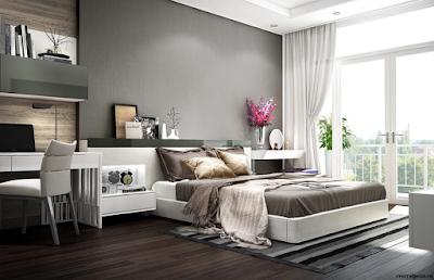 Phòng ngủ căn hộ mẫu Central Point