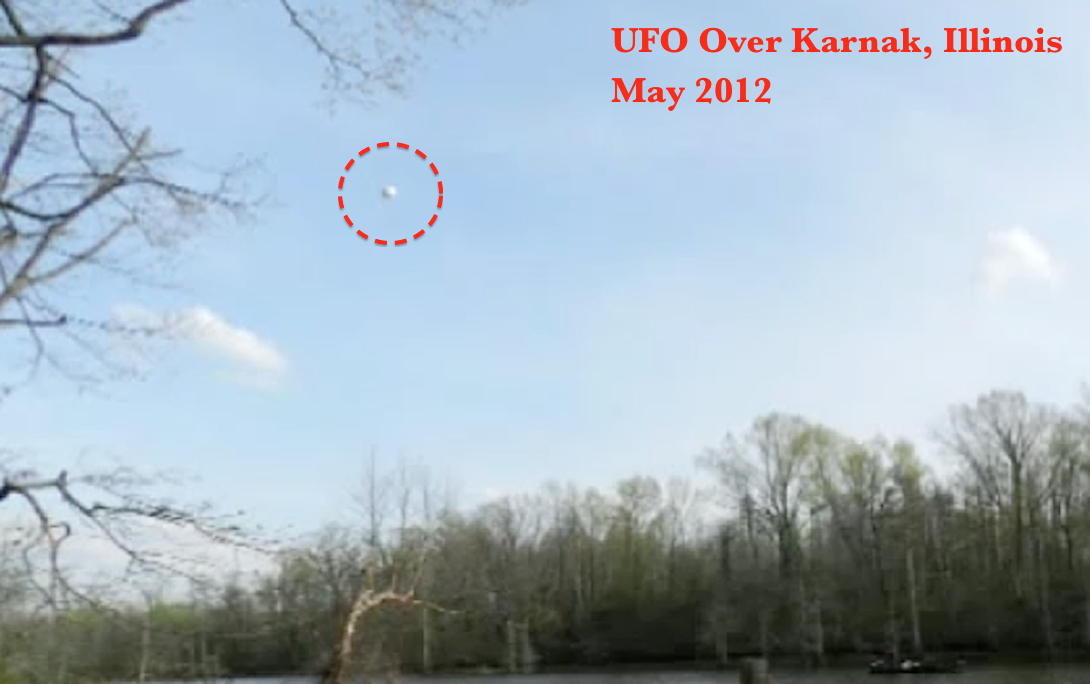 Ufo orb shoots across sky and stops to watch fisherman, illinois video