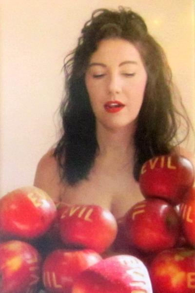 linda hesh, lois lambert gallery, red delicious, in the garden