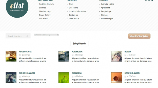 eList - Directory Wordpress Theme Free Download.
