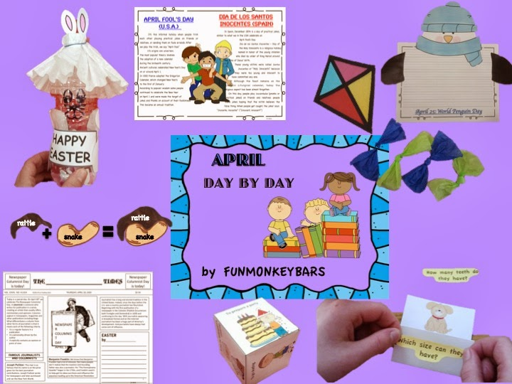 http://www.teacherspayteachers.com/Product/April-Day-by-Day-1181888