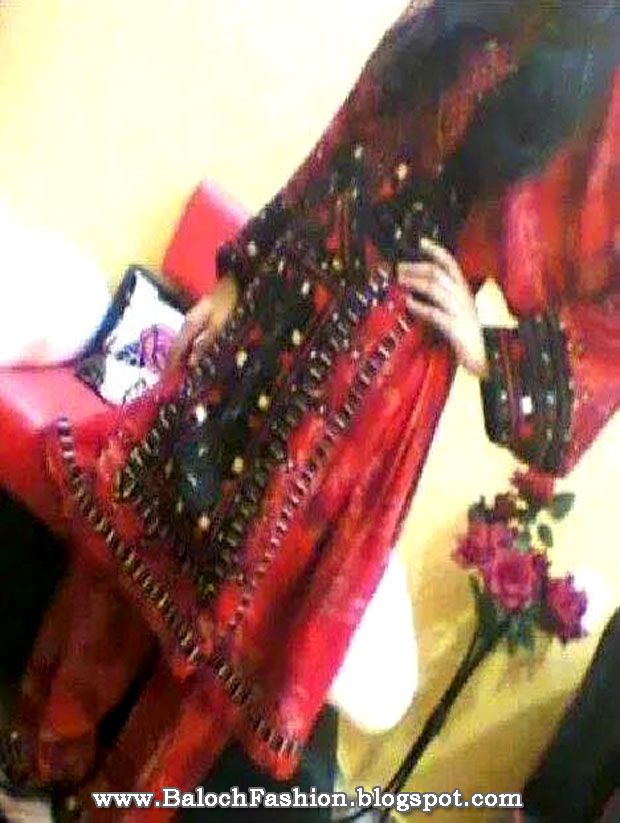 Baloch Culture Day 2014 Red Balochi Dress and ...