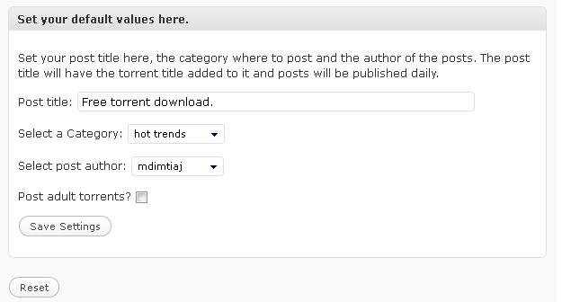 Torrent autoblogger wordpress plugin