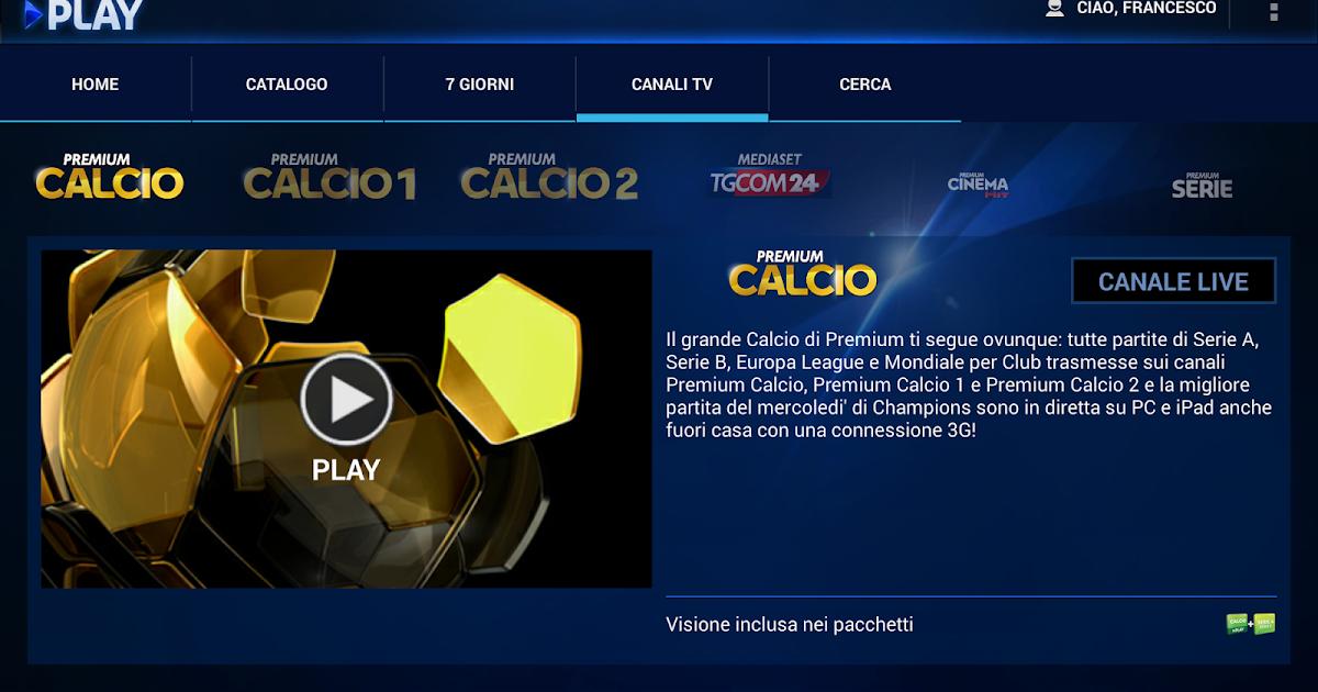 Francesco messineo developer sky go e premium play su for Premium play su smart tv calcio live