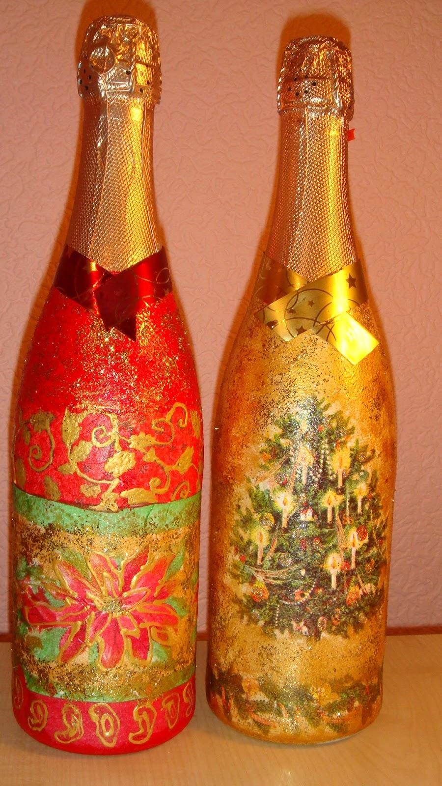 Декупаж шампанского своими руками фото