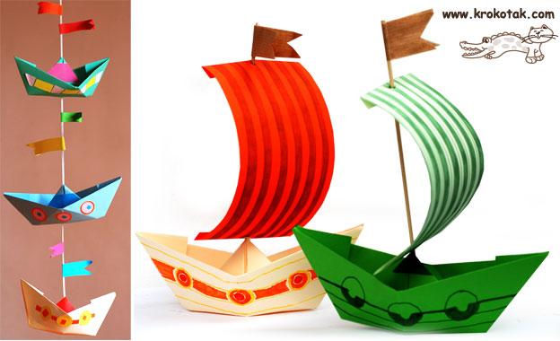 kidissimo 6 id es de petits bateaux fabriquer avec des. Black Bedroom Furniture Sets. Home Design Ideas