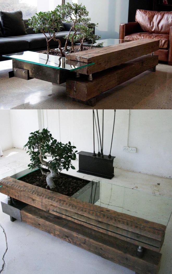 21 mesas de centro criativas assuntos criativos - Mesas para bonsai ...