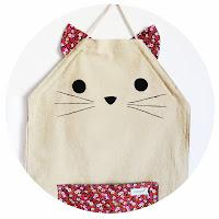 Delantal para niños, gato. Costurilla Handmade