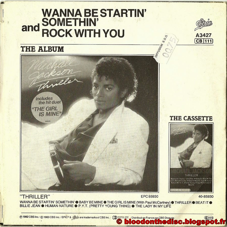 Wanna Be Startin Somethin 45T Back Cover