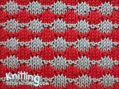 Rows of Circles Knitting Stitch Patterns