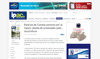 Esteros de Canela cuenta con la mayor instalación de procesado de productos del mar, según ipacuicultura.com