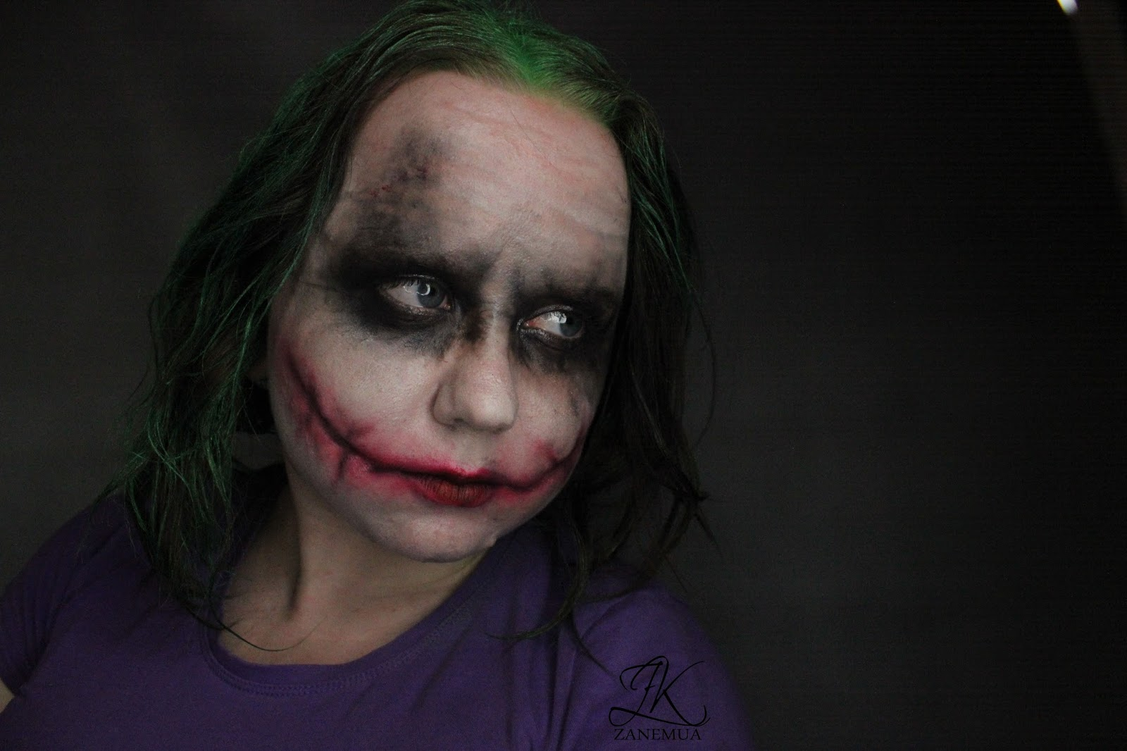 zk blog: joker makeup tutorial | halloween makeup