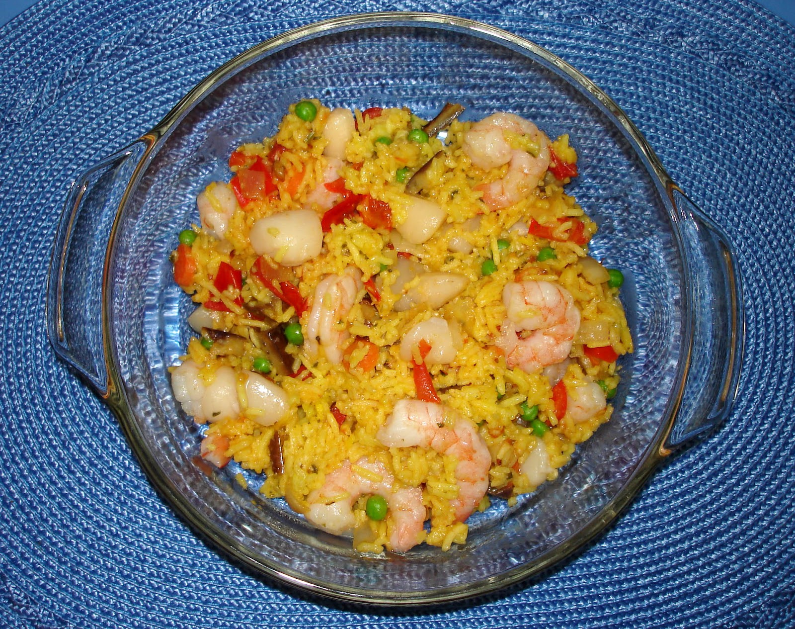 Let them eat bread!: Shrimp and Scallop Paella