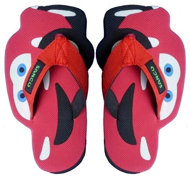 Motif Sandal Sancu Red cars