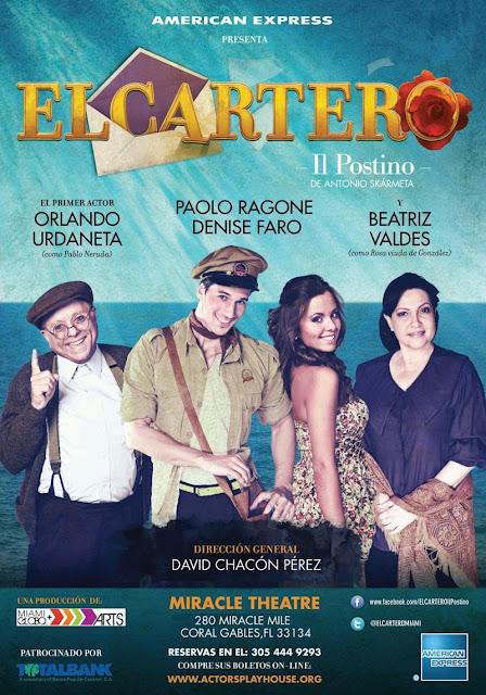 Gran estreno en Miami: EL CARTERO, Il Postino de Antonio Skármeta