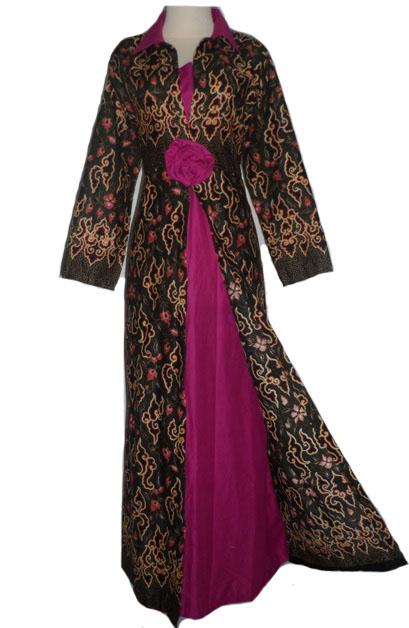 50 gambar model baju batik gamis kombinasi terbaru Baju gamis yg lg ngetren