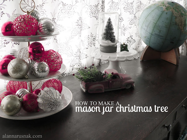 how to make a mason jar christmas tree