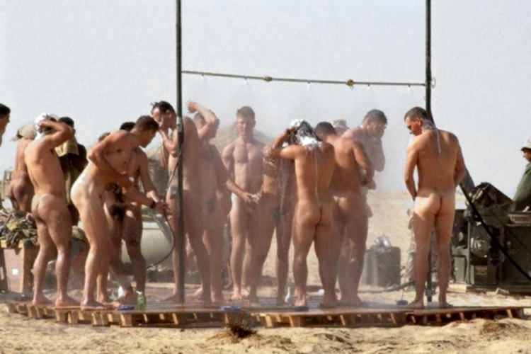 Naked army gay men in shower and puerto 8