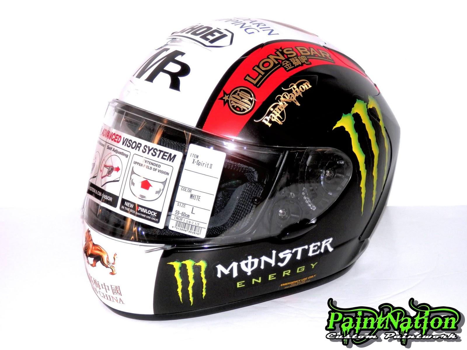 racing helmets garage shoei x spirit ii m rutter macau 2015 by paintnation. Black Bedroom Furniture Sets. Home Design Ideas