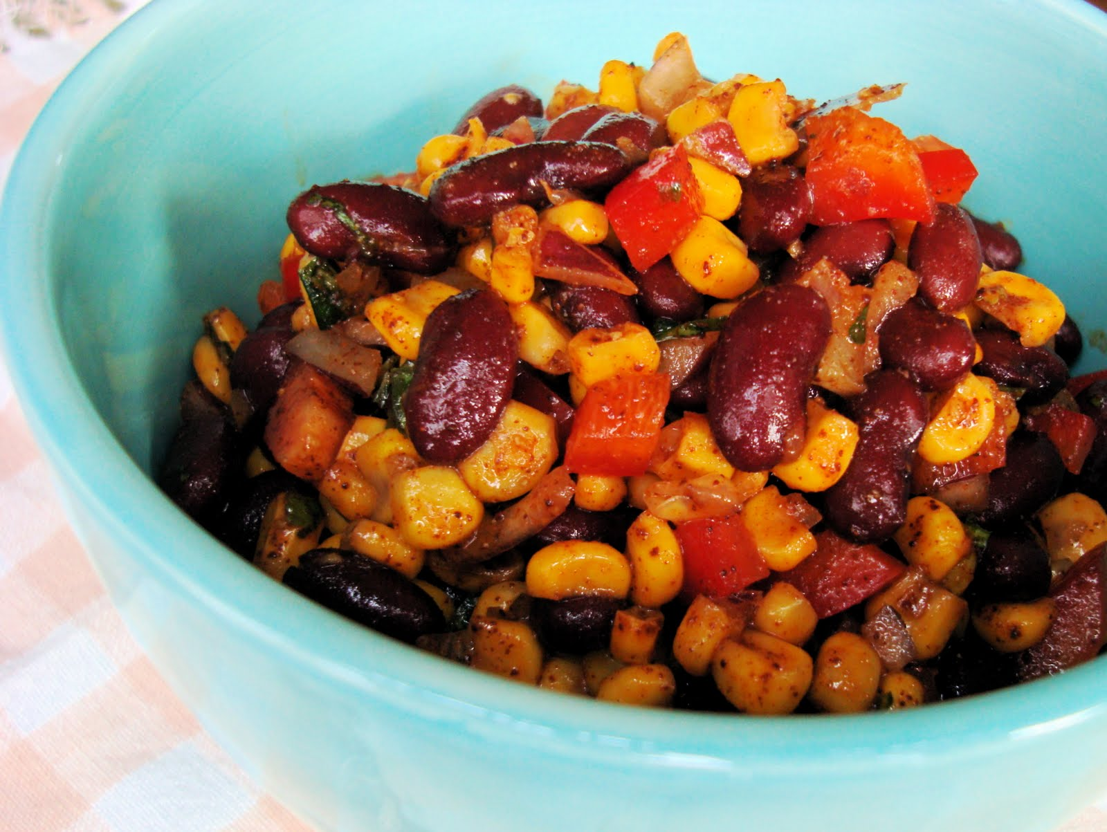 Kidney bean and corn salad recipe healthy journey cafe forumfinder Images