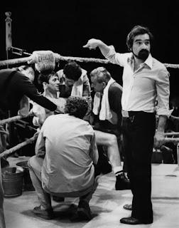 Martin Scorsese durante el rodaje de Toro Salvaje