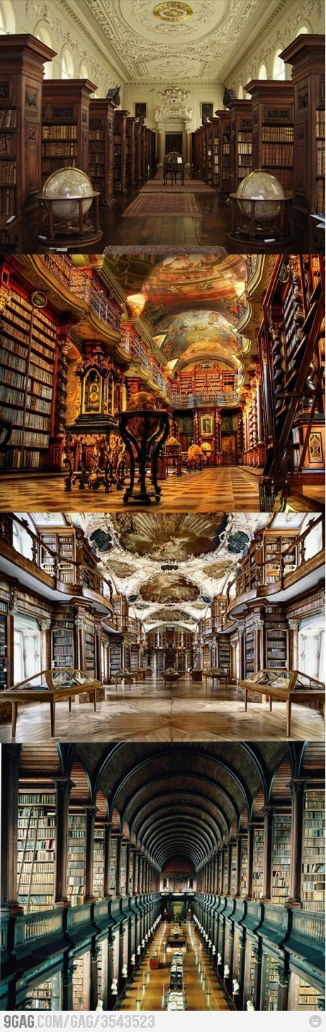 The way these libraries are built is just like a miracle. These look awesome and the way books are arranged gives an extra beauty.