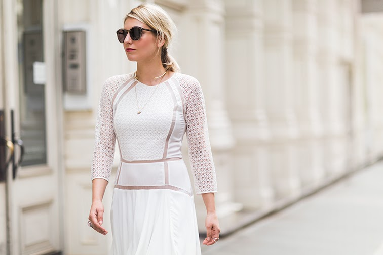 Fashion Over Reason X Keaton row, Rebecca Taylor white dress