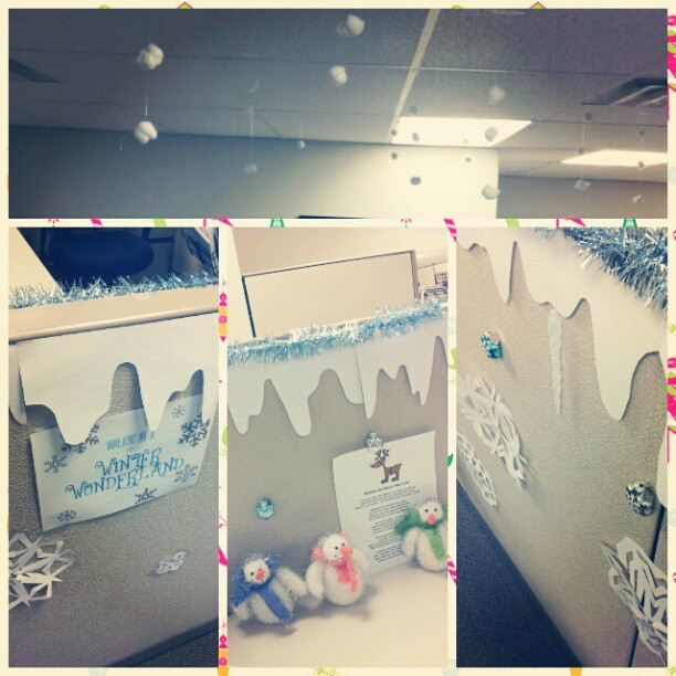 Innovative Winter Wonderland Office Decorating Ideas Christmas Cubicle Ideas