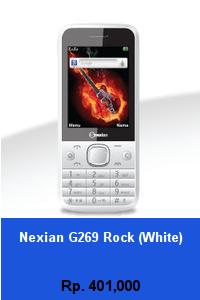 Daftar HP Murah Nexian G269 Rock (White) - wedhanguwuh.com