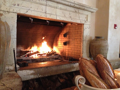 Bread and fireplace at Kokkari in San Francisco