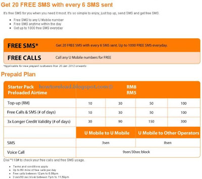 u mobile call rates sms rates