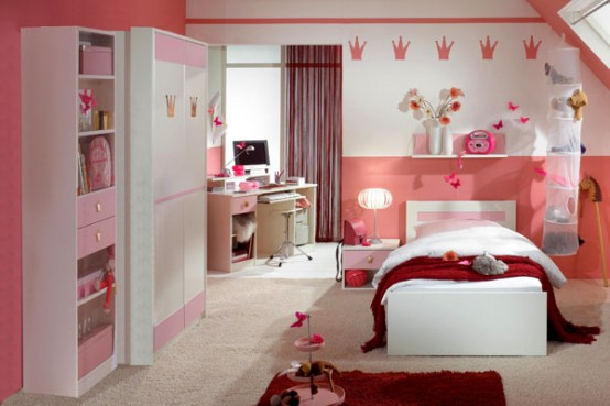 House designs 15 good ideas for girls pink bedroom for Nice bedroom ideas for girls