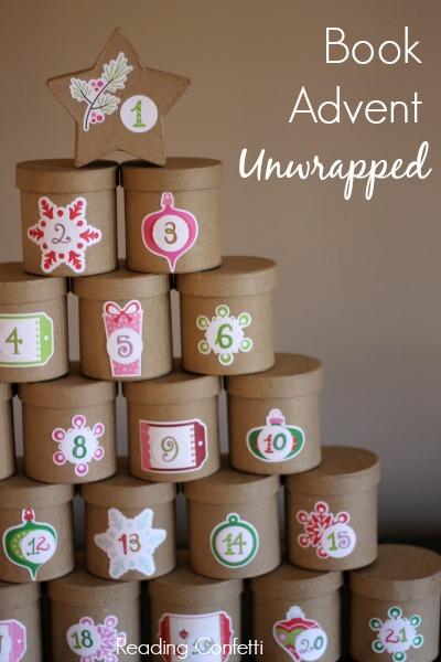 Book Advent Calendar Ideas : Unwrapped book advent calendar reading confetti