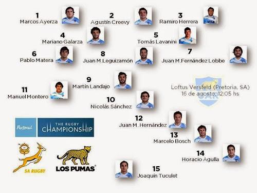Formación de Los Pumas para el debut en el RCH