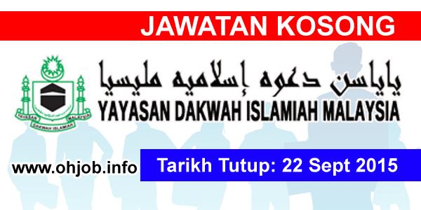 Jawatan Kerja Kosong Yayasan Dakwah Islamiah Malaysia (YADIM) logo www.ohjob.info september 2015
