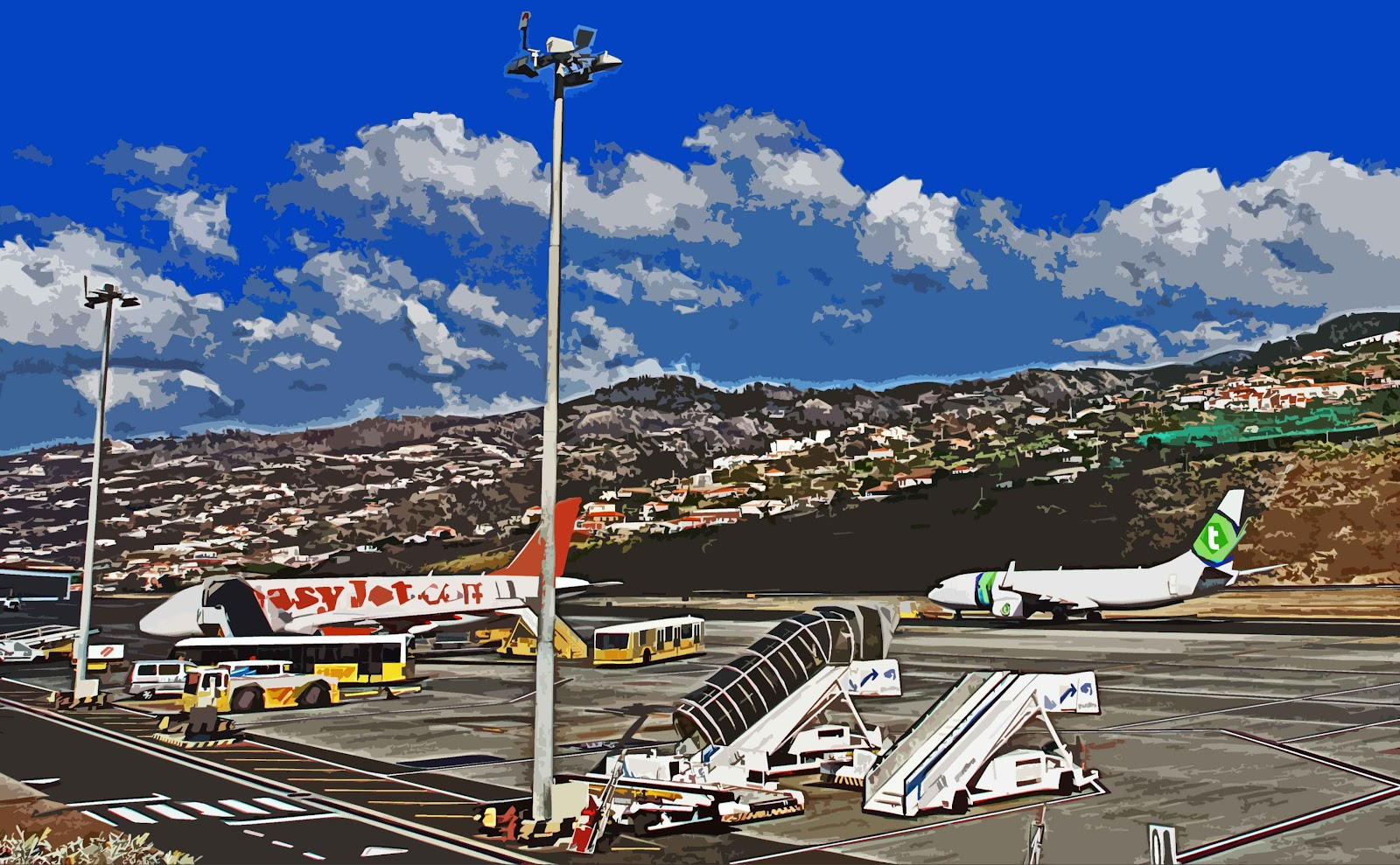 ... field location madeira airport fnc er101 santa cruz portugal labels