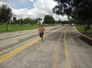 The end of an 11km/6.8 mile run in the Metropolitan Park of Guadalajara September 23, 2014