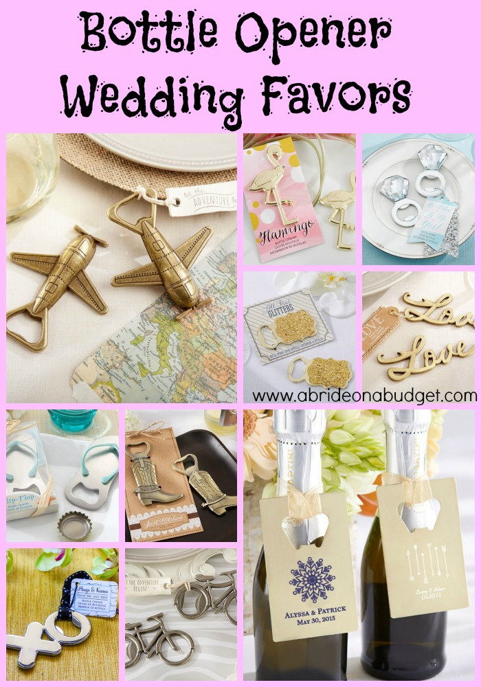 Bottle Opener Wedding Favors A Bride On A Budget