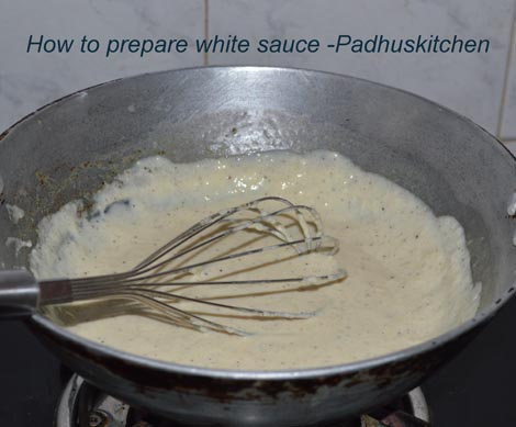 how to prepare white sauce