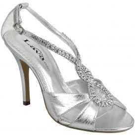 Wedding Lady Beautiful Silver Wedding Shoes
