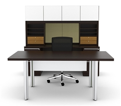 Verde VL-749N Modern Executive Desk Suite