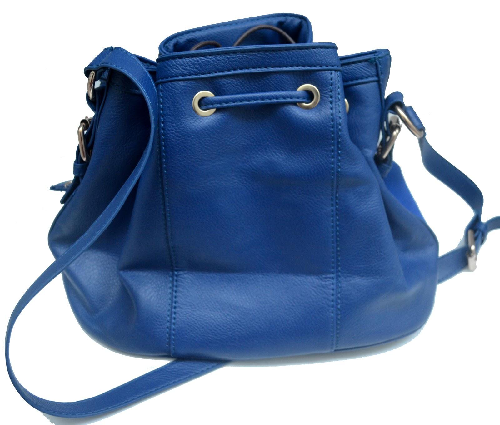 Bolsa De Festa Azul Bic : ?rea vendida bolsinha tipo saco azul