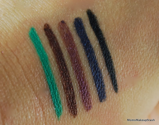 STILA  Eye Liners, Stila Color Outside The Lines Smudge Stick Waterproof Eye Liners, Stila Liner Swatches