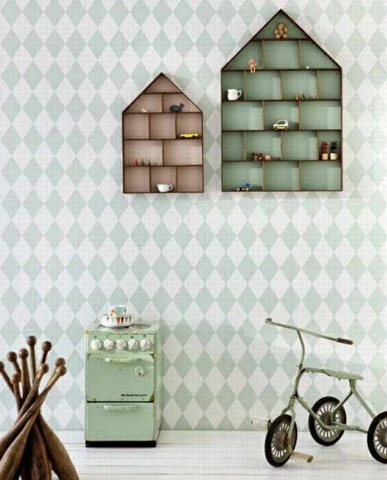 17+interesting+wall+design+shelves+nursery