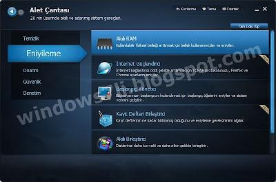 SystemCare eniyileme, sistem eniyileme