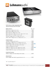 Tarif Lehmann Audio 2017