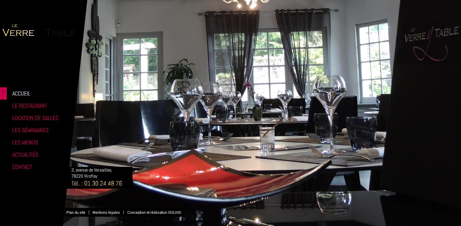 r f rences web solixis restaurant gastronomique versailles yvelines le verre y table. Black Bedroom Furniture Sets. Home Design Ideas