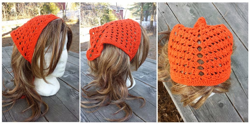 designed this crochet hair kerchief around the same time that i ...